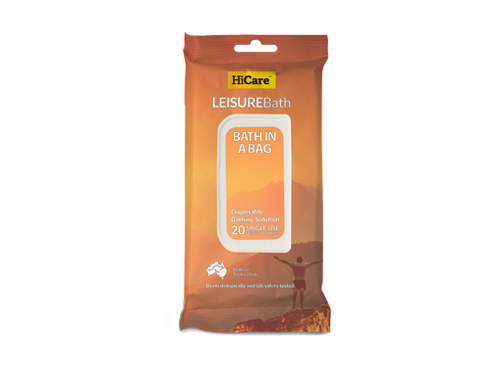 HiCare Health's Waterless Leisure Bath Wipes